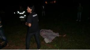 Vítima teve corpo dilacerado (Foto: Cido Costa)