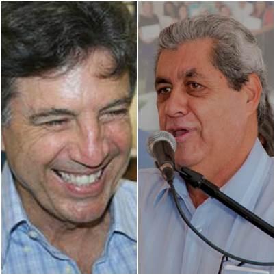 Prefeito de Dourados Murilo Zauith (PSB) e Governador André Puccinelli (PMDB)<br />Foto: arquivo