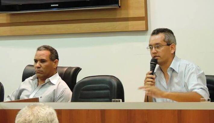 Vereador Chiquinho Telles(PSD) e Elvis Rangel<br />Foto: Assessoria