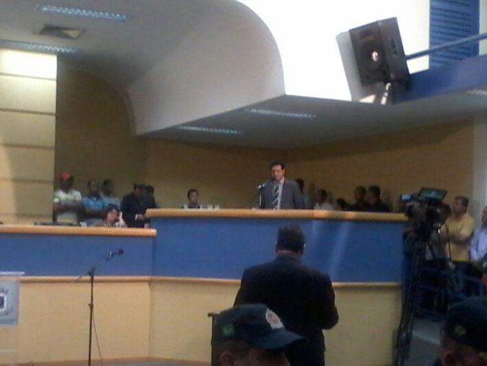 O vereador Cazuza fez questão de ressaltar que Bernal foi eleito com 270 mil votos e destaca que os vereadores devem respeitar a vontade dos eleitores (Foto: Heloísa Lazarini)