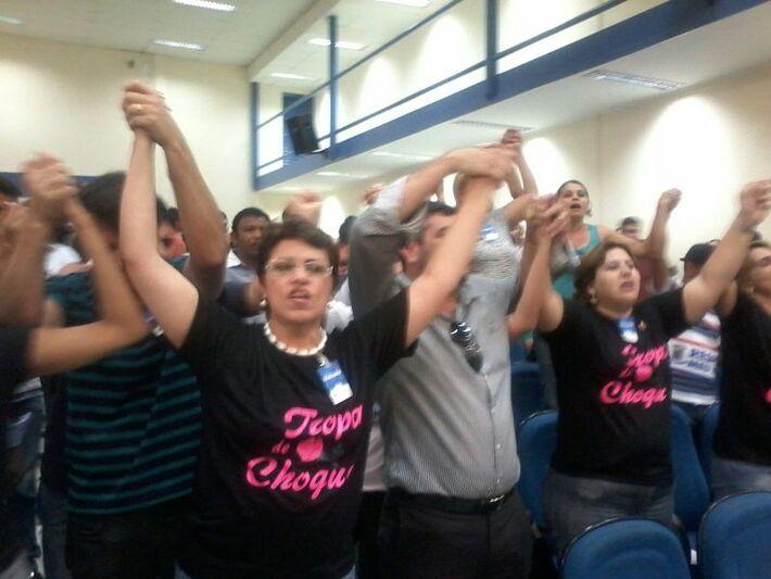 Grupo de apoio a Bernal é liderado pelas secretárias Ritva Vieira e Jacqueline Hidelbrand<br />Foto: Heloísa Lazarini