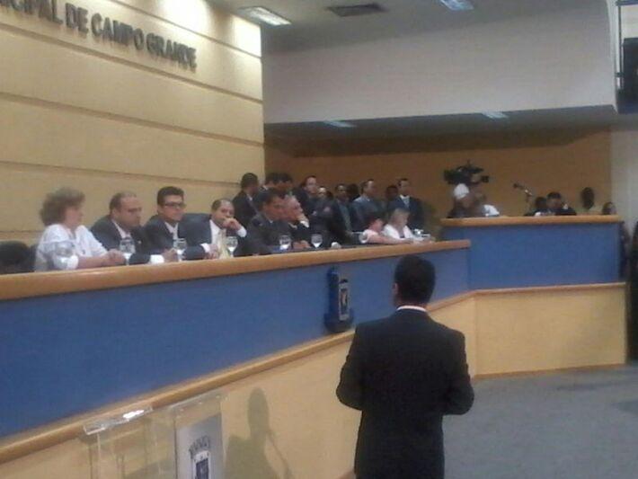 O novo prefeito pediu desculpas à população e ressaltou que todos devem dar as mãos para construir uma Capital melhor (Foto: Heloísa Lazarini)