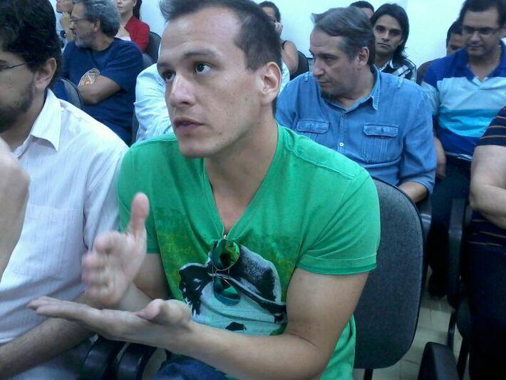 Presidente do fórum da cultura, Vitor Samudio.<br />Foto: Dany Nascimento