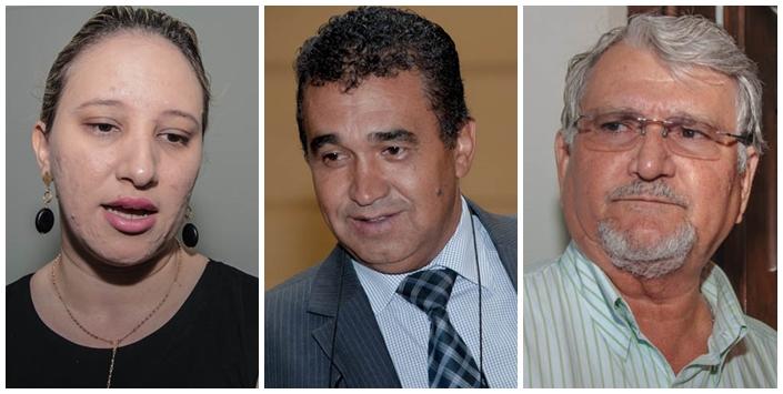 Vereadores Thaís Helena (PT), Ayrton Araújo (PT) e Zeca do PT<br />Foto: Arquivo