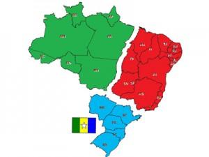 A ideia do ex-vereador é unir os Estados do Rio Grande do Sul, Santa Catarina, Paraná, São Paulo e Mato Grosso do Sul (Foto: Reprodução)