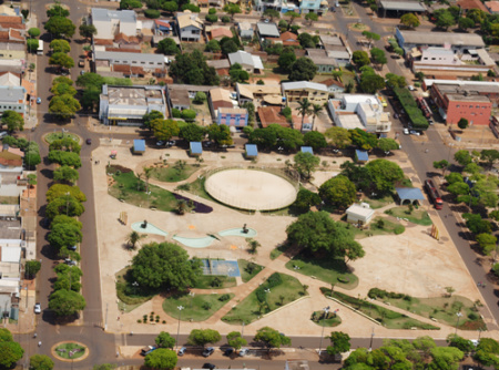 Imagem aérea da cidade de Caarapó<br />Foto: Divulgação