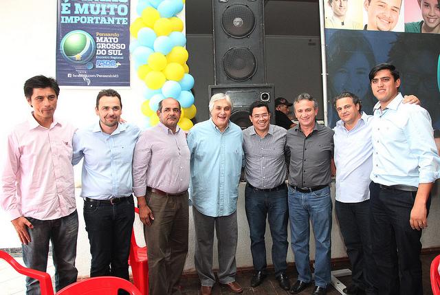 Delcídio com alguns prefeitos do interior do Estado<br />Foto: Assessoria