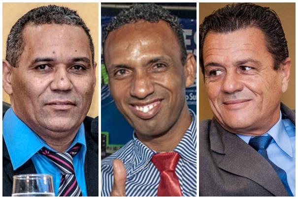Vereadores Chiquinho Telles (PSD), Coringa (PSD) e Delei Pinheiro (PSD)<br />Foto: Arquivo