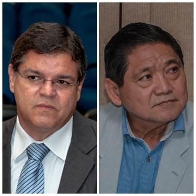 Vereadores Paulo Pedra (PDT) e Edson Shimabukuro (PTB)<br />Foto: Marcelo Calazans