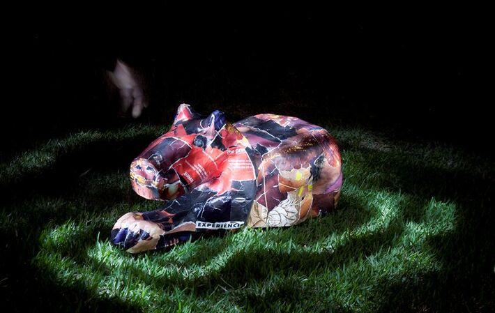 Obra feita pelo artista plástico Galvão Preto<br />Foto: Assessoria