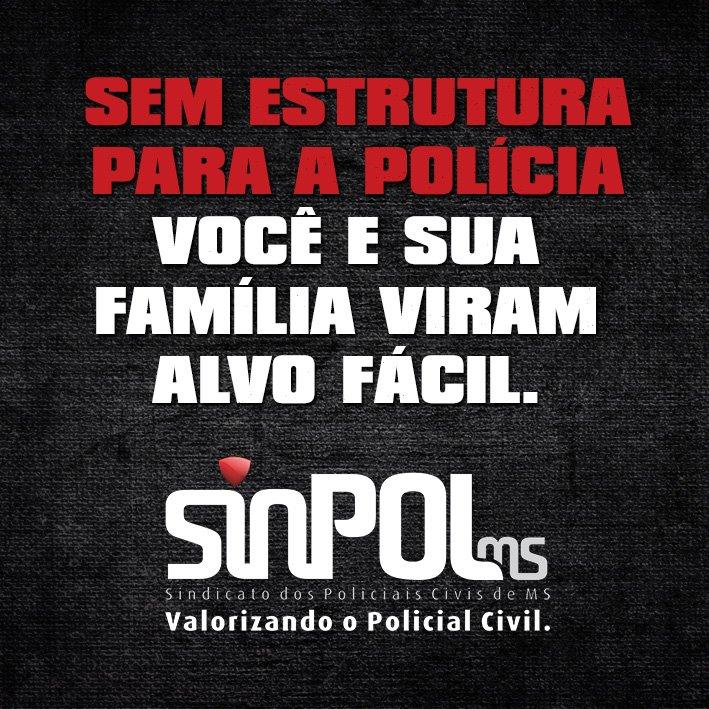 Flyer da campanha da polícia civil pela valorização dos policiais<br />Foto: Facebook/Sinpol