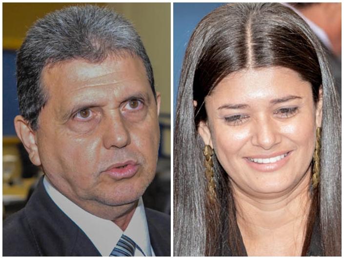 Vereadores João Rocha (PSDB) e Rose Modesto (PSDB)<br />Foto: Marcelo Calazans