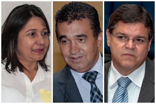 Vereadores Luiza Ribeiro (PPS), Ayrton Araújo (PT) e Paulo Pedra (PDT)<br />Foto: Marcelo Calazans
