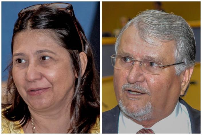 Vereadores Luiza Ribeiro (PPS) e Zeca do PT<br />Foto: Marcelo Calazans