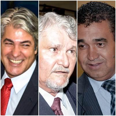 Bancada do PT na Câmara de Vereadores da Capital: Alex, Zeca e Airton Araújo<br />Foto: arquivo