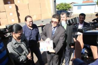 O prefeito Gilmar Olarte (PP) garante que não se importa em entregar os materiais com a logomarca do ex-prefeito cassado, Alcides Bernal (PP) (Foto: Márcio Feliciano )