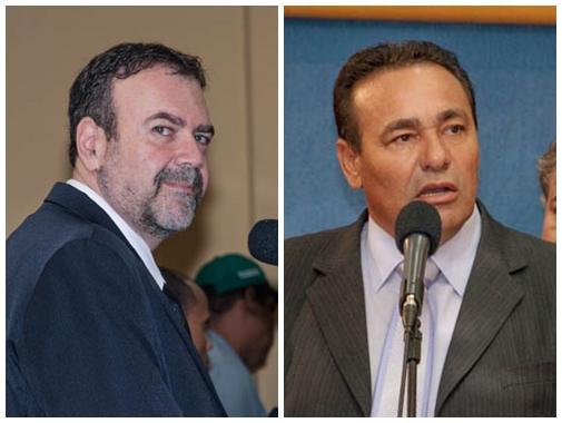 Vereadores Paulo Siufi (PMDB) e Carlão (PSB)<br />Foto: Marcelo Calazans