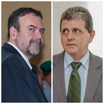 Vereadores Paulo Siufi (PMDB) e João Rocha (PSDB). Apesar de cotada como favorita, a vereadora Grazielle Machado (PR) se considera independente e não deve concorrer ao posto.<br />Foto: Arquivo