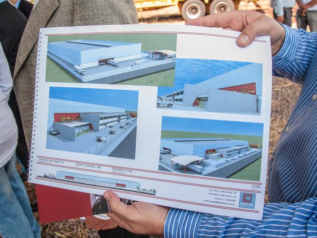 Projeto da fábrica de tablets<br />Foto: Marcelo Calazans
