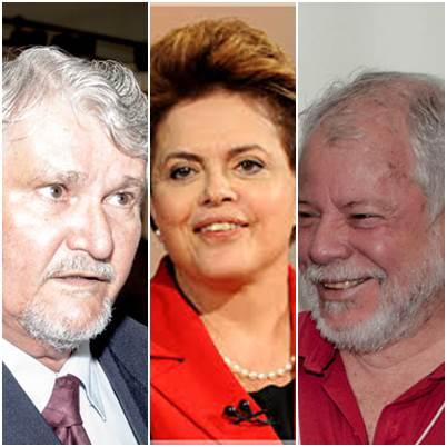 Vereador Zeca do PT, presidente Dilma Rousseff e deputado federal Antonio CarlosBiffi<br />Foto: arquivo