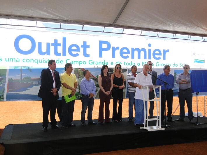 Lançamento pedra fundamental shopping Outlet<br />Foto: Assessoria