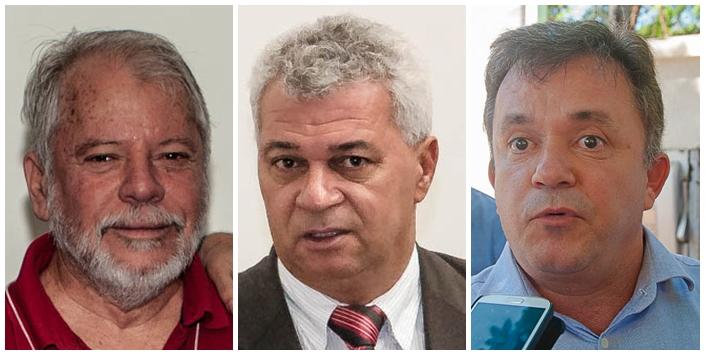 Deputado federal Antônio Carlos Biffi (PT), deputado estadual Cabo Almi (PT) e deputado federal Vander Loubet (PT)<br />Foto: Arquivo