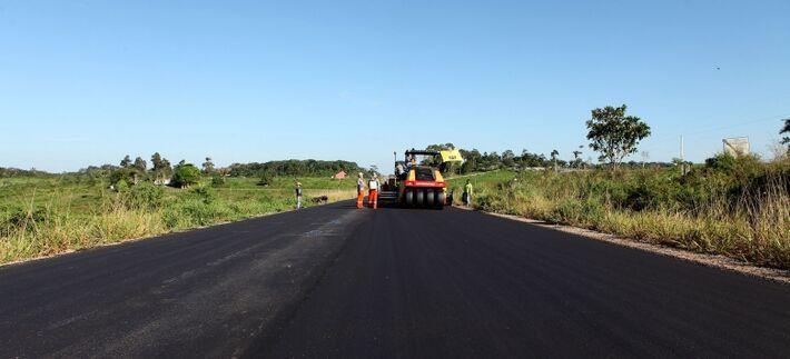 De acordo com a empresa CCR MS Via, que é responsável pelas obras da BR 163, a obra deve durar aproximadamente três semanas - Reprodução