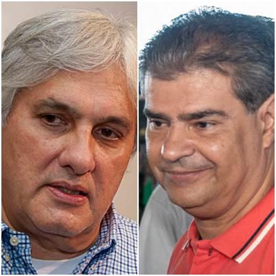 Pré-candidato do PT ao governo do Estado, senador Delcídio do Amaral e pré-candidato do PMDB ao governo do Estado Nelson Trad Filho