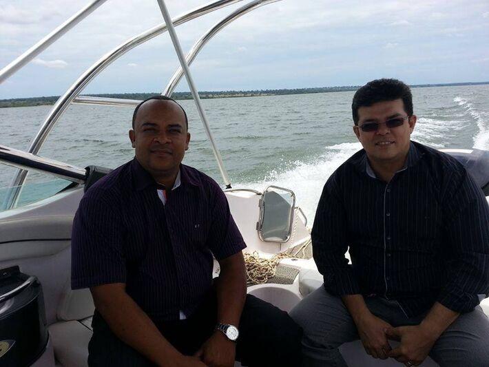 Ismael Faustino e o prefeito de Campo Grande, Gilmar Olarte (PP).<br />Foto: Divulgação