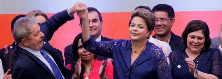 Ex-presidente Lula (PT) e presidente Dilma Rousseff (PT)