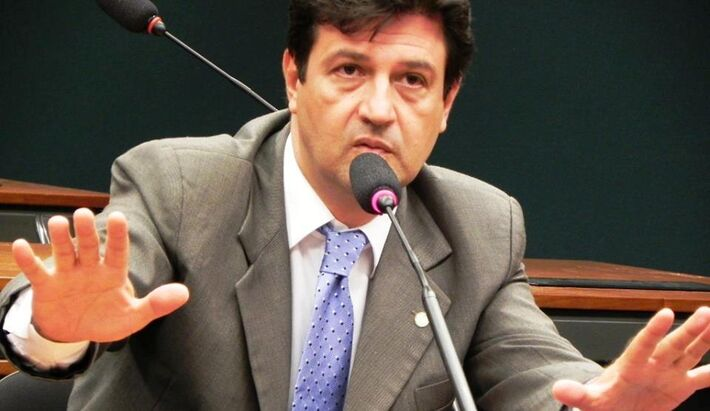 O deputado federal Luiz Henrique Mandetta afirma que seu partido quer Reinaldo Azambuja (PSDB) como pré-candidato ao governo do Estado (Foto: Reprodução)