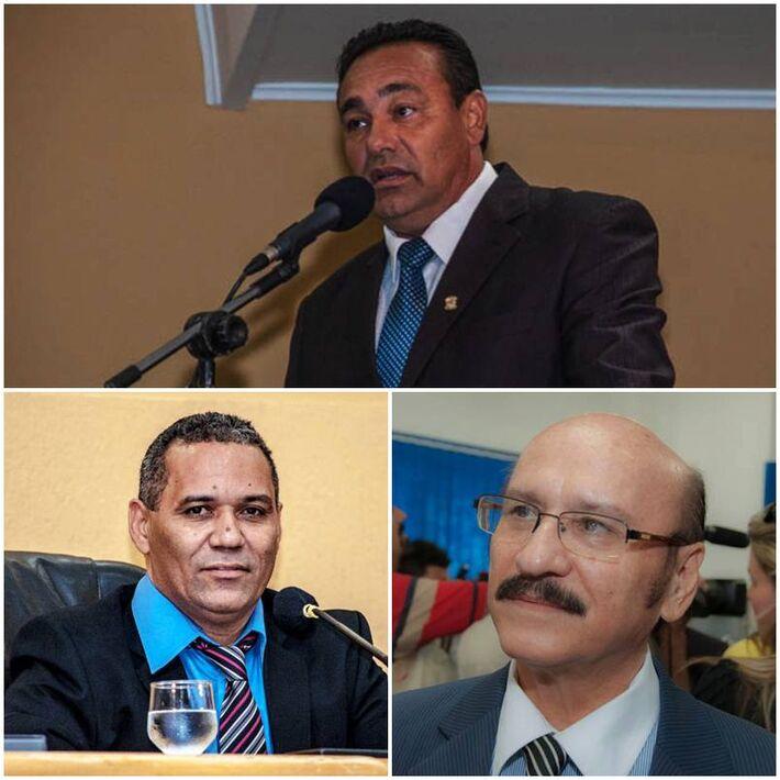 Vereador Carlão (PSB), Chiquinho Telles (PSD) e Loester (PMDB)<br />Foto: Arquivo