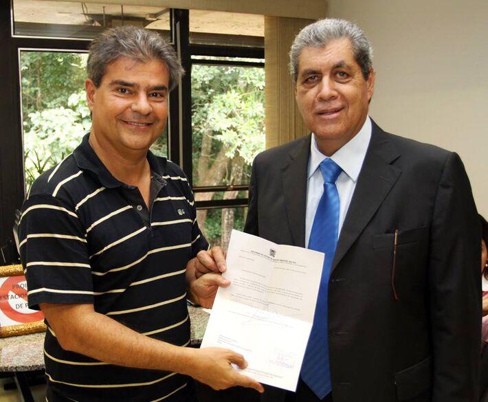Pré-candidato do PMDB Nelson Trad Filho e governador André Puccinelli (PMDB)<br />Foto: facebook