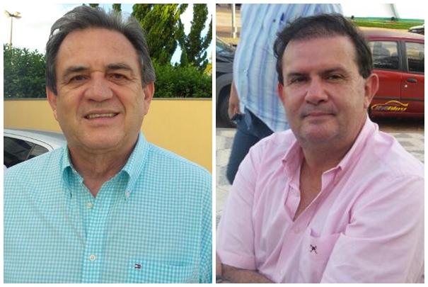 Senador Moka (PMDB) e deputado estadual Eduardo Rocha (PMDB) conversaram com MS Notícias antes de início da reunião<br />Foto: Dany Nascimento