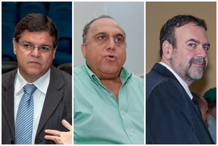 Vereador Paulo Pedra (PDT), secretário Jamal Salém e vereador Paulo Siufi (PMDB)<br />Foto: Arquivo