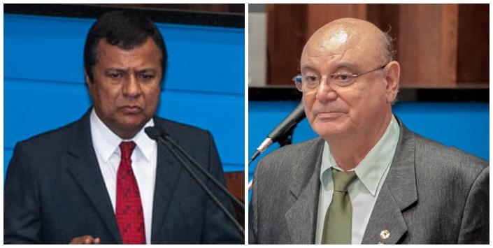 Deputados estaduais Amarildo Cruz (PT) e Laerte Tetila (PT)<br />Foto: Arquivo