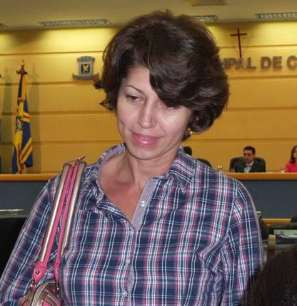 Tesoureira do Sindafis (Sindicato dos Fiscais de Campo Grande), Mari de Fátima Lacerda<br />Foto: Tayná Biazus