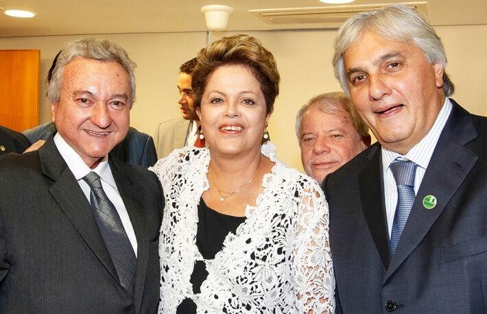 Heitor Miranda, Dilma e Delcídio Amaral<br />Foto: Francisco Stuckert Filho