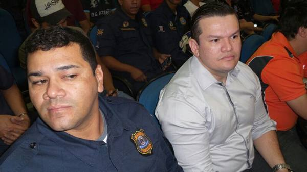 Guarda Municipal, Hudson Pereira Bonfim e assessor jurídico Márcio Almeida<br />Foto: Heloísa Lazarini