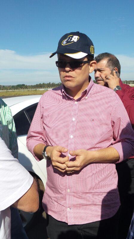 Prefeito de Campo Grande, Gilmar Olarte (PP), em visita técnica ao Autódromo Internacional<br />Foto: Tayná Biazus