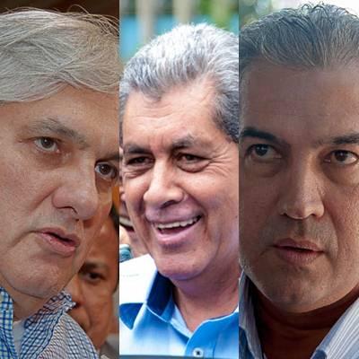 Senador Delcídio do Amaral (PT), governador André Puccinelli (PMDB) e deputado federal Reinaldo Azambuja (PSDB)