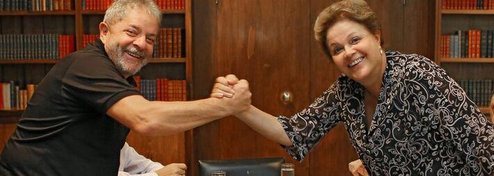 Ex-presidente Lula e presidente Dilma Rousseff ambos do PT<br />Foto: Brasil 247