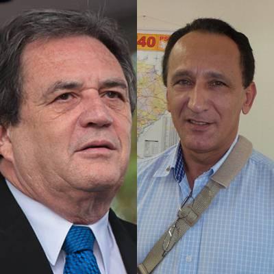 Senador Waldemir Moka (PMDB) e vice-presidente do PSB Sergio Assis<br />Foto: arquivo