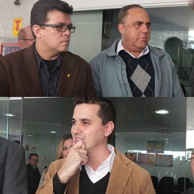 Prefeito de Campo Grande, Gilmar Olarte (PP), secretário municipal de saúde, Jamal Salém, e Rodrigo Lucchesi Cordeiro, coordenador técnico da Apae