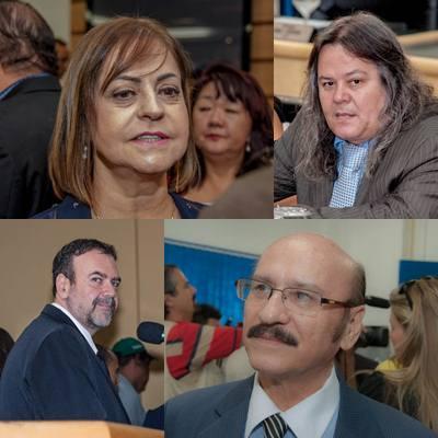 Vereadores peemedebistas Magali Picarelli, Vanderlei Cabeludo, Paulo Siufi e Loester<br />Foto: Arquivo