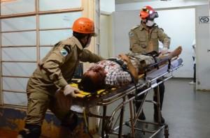 Vítima foi encaminhada para a cidade de Dourados (Foto: Ivi Notícias)