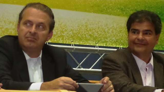 Presidenciável Eduardo Campos (PSB) e Nelsinho Trad (PMDB), pré-candidato do partido ao governo do Estado