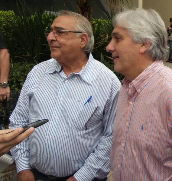Deputado Jerson Domingos (PMDB) e senador Delcídio do Amaral (PT)<br />Foto: Dany Nascimento
