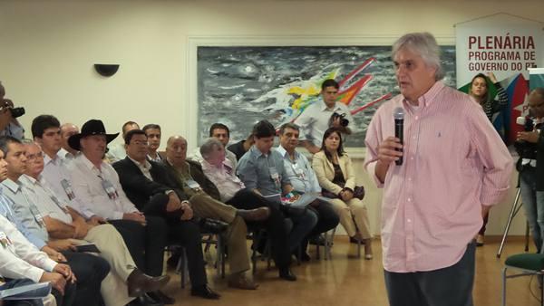 Delcídio em encontro com prefeitos de municípios do interior do Estado<br />Foto: Dany Nascimento
