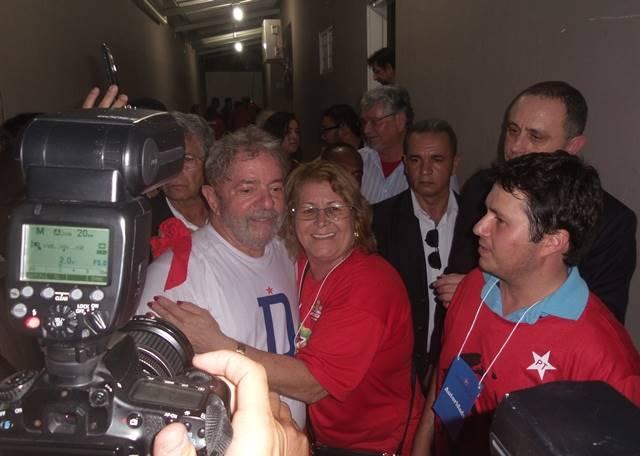 Ex-presidente Lula após discursar na Convenção Estadual do PT<br />Foto: Heloísa Lazarini